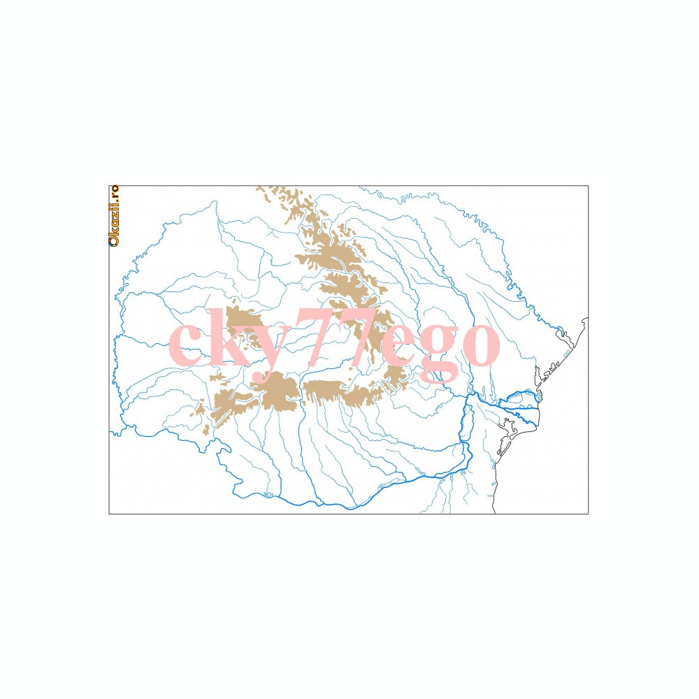 Harta 4 Harta Muta Retea Hidrografica Pe Teritoriul Romaniei