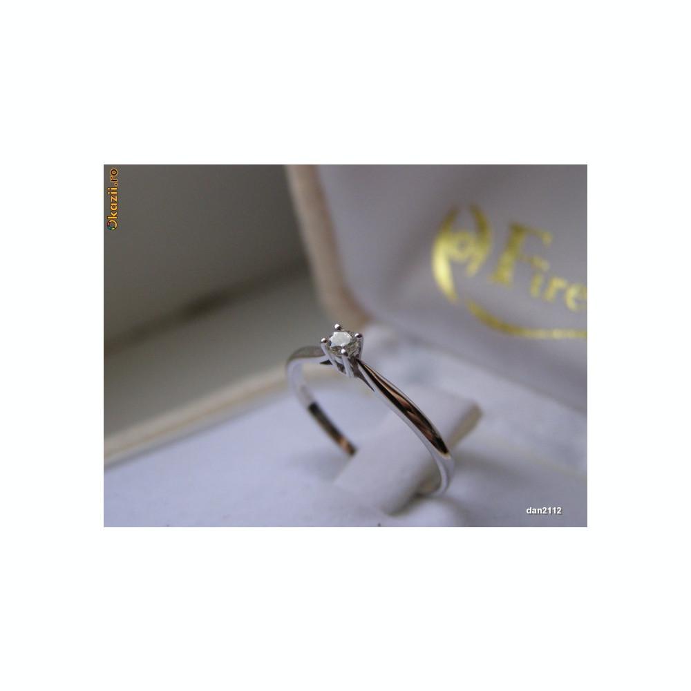 Inel Aur Alb Cu Diamant Firesq Arhiva Okaziiro