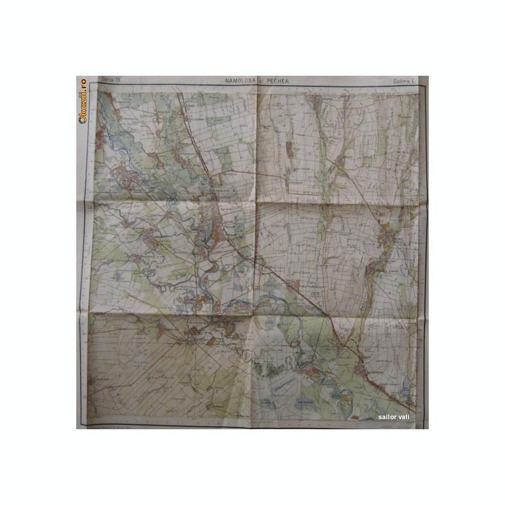 Harta Militara Galati Namoloasa Liesti Ivesti Maicanesti Covurlui