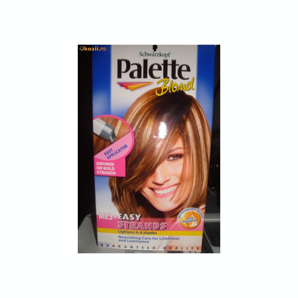 Vopsea palette blond pentru suvite cu aplicator special for Combien de parpaing par palette