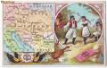 1778 - Litho ROMANIA pe Harta Europei - vedere reclama - unused