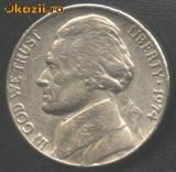 SUA 5 CENTS 1974  portret presedintele Jefferson