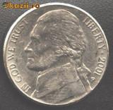 SUA 5 CENTS 2001 P portret presedintele Jefferson