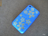 Carcasa iPhone 3G 3GS - editie limitata - BLUE FLOWERS