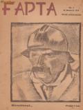 5 nr. Fapta - revista politica-sociala (1919,desene Iser,Tiberiu