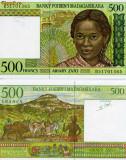 Madagascar 500 franci unc 1994