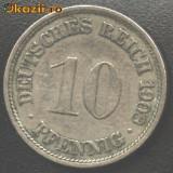 Germania 10 Pfennig 1908 F
