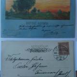 Litografie , circulata la 1900 la Timisoara , stare excelenta