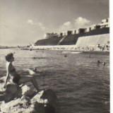 Bnk cp eforie - la plaja - circulata 1961