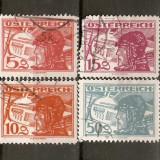 Timbre Austria 1925 Aviatori stampilate