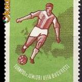 LP 535 - Turneul de juniori UEFA - Timbre Romania, An: 1962, Sport, Nestampilat