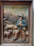 Tablou vechi francez  basorelief