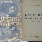 Marcel Brion, Laurentiu Magnificul, 1943 - Carte Editie princeps