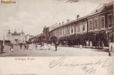 Ok-0320- Romania, Sighetul Marmatiei, c.p. circulata 1900: Centru, animat, Fotografie, Sighetu Marmatiei