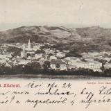 Ok-0323- Romania, salut Zilah, Zalau, carte postala circ. 1901: Panorama