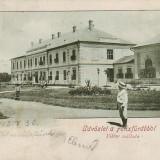 Ok-0322- Romania, Salutari Felix, c.p. circulata 1902: Hotel Viktor, animat