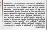 Ion ianosi - sublimul si spiritualitatea romaneasca, Ion Ianosi