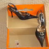 Pantofi dama din piele - Pantof dama, Fuchsia, 35 1/3