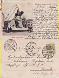 Cluj- Statuia Matei Corvin - clasica,  1903, Circulata, Printata