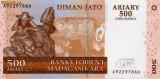 Madagascar 500 ariary 2500 franci 2004 unc
