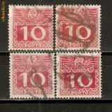 Timbre Austria 1908 PORTO - Cifra de valoare st.