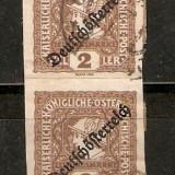 Timbre Austria 1919 Mercurkopf - Marca de ziar cu supratipar.
