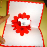 felicitari tridimensionale floare