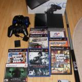PS2 slim oferta!!! play station 2+ card 64MB+jocuri - PlayStation 2 Sony