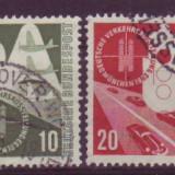 1953 Mi.167-170 Germania stampilat - Timbre straine