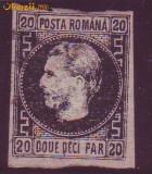 1867 L.P. 20c Tipul II sarniera