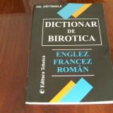 DICTIONAR DE BIROTICA ENGLEZ FRANCEZ ROMAN ION NAFTANAILA