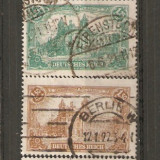 Timbre Germania Reich 1920 Serie stampilate