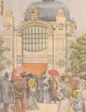 Ziarul Universul : pavilionul Min.Domeniilor la expozitia  din 1904 (gravura