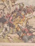 Ziarul Universul : lupta intre greci si bulgari in Macedonia (gravura 1904
