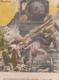 Ziarul Universul : catastrofa de pe linia ferata Varciorova (1906), gravura