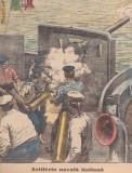 Ziarul Universul : artileria navala italiana (1915,gravura) ww1