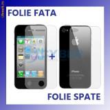 FOLIE iPHONE 4 - FOLIE ECRAN + FOLIE SPATE - Folie de protectie Apple