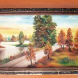 Tablou frumos, ulei pe placaj, 62/63cm, semnat - Pictor roman