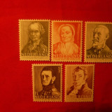 Serie- Personalitati 1941 OLANDA, 5 valori