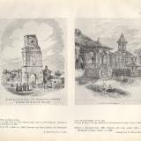 Plansa -  Turnul COLTEI-1841 si Casa in Bucuresti-1854