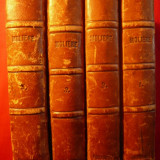 """MOLIERE-""""Oeuvres Completes"""" Paris -1855- 1, 2, 3, 5 - Carte in franceza"""