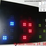 Ceas binar de perete cu LED-uri - unic 2012 - Ceas led
