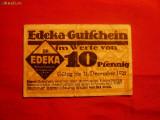 Bancnota -Jeton 10 Pf.Firma Edeka 1921 Germania