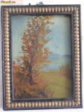 Cumpara ieftin Peisaj cu copac, tablou vechi