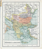 456 - Harta - Romania, Craiova, Pitesti, Alexandria, Sulina 1919