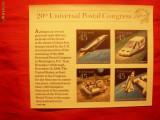 BLOC UPU - AL 20-lea Congres 1989 USA