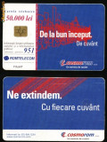 Cartela telefonica Romtelecom Cosmorom ,2001,Rom 124