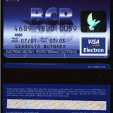 Card bancar Visa Electron BCR,2001