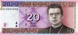 Lituania 20 litu 2001 unc