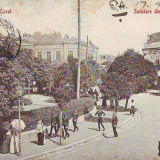 BO57 Giurgiu Piata Carol 1906 circulata - Carte Postala Muntenia dupa 1918